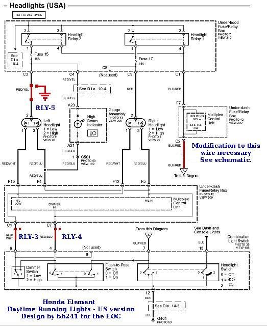 Honda Element Headlight Wiring Diagram