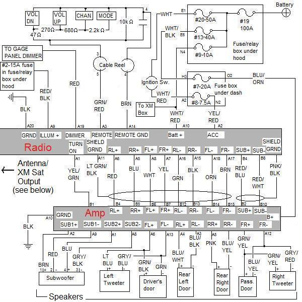 Complete OEM Audio Schematic for EX and SC (amplified) - Honda ... on honda s2000 radio wiring diagram, honda element fuse diagram, honda del sol radio wiring diagram, honda accord radio wiring diagram, honda civic radio wiring diagram,