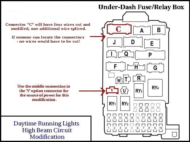 on daytime running light circuit wiring diagram
