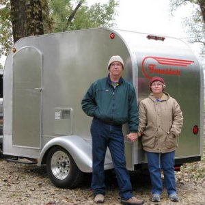 The Towster is a rolling bathroom - shower - kitchen.  We sleep in the back of the Element.
