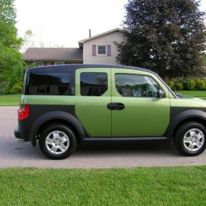 Got the green going on here. This is when I first got my element.