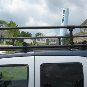 Custom built roof rack