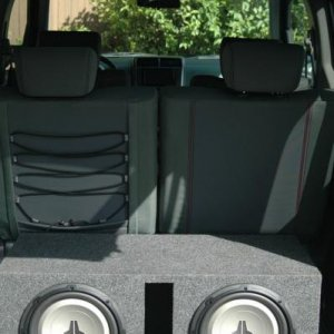 Two 10in JL Audio 10w1v2 in a ported box