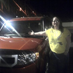 My NEW HONDA ELEMENT on the dealership lot the nite it was delivered!!