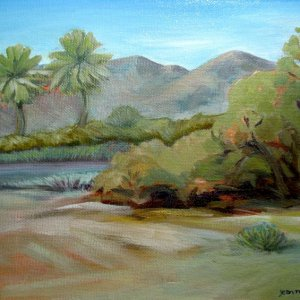 Oil Painting from our e camping trip to Death Valley in 2010
